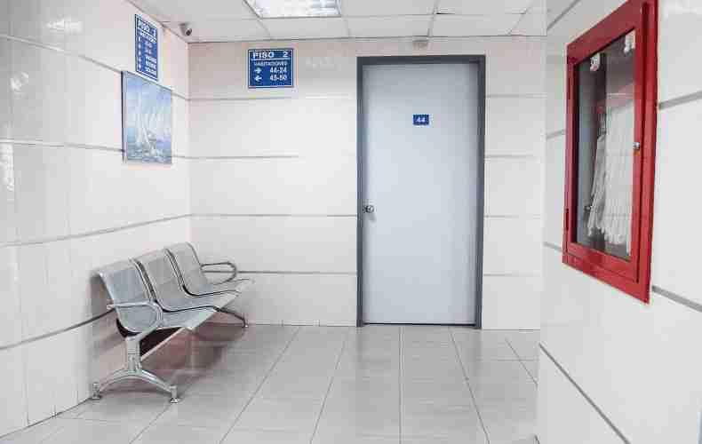 Empty waiting room: photo by Martha Dominguez de Gouveia
